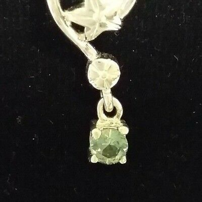 Anakie Gemfields Facetted Green Sapphire Pendant