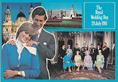 The Royal Wedding Postcard.  Prince of Wales and Lady Diana Spencer. GM2513