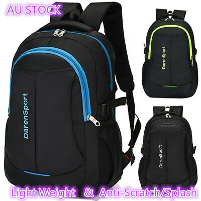 NEW Mens Women's Large Capacity Black Backpack Laptop Notebook School Travel Bag