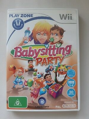 Babysitting Party for Nintendo Wii  AU PAL Version FREE POST 100% SCRATCH FREE