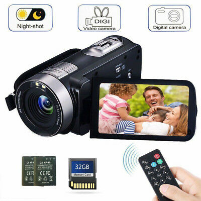 16x Zoom Digital Camera Video Camcorder Display HD 1080P DVR Recorder 32G Card