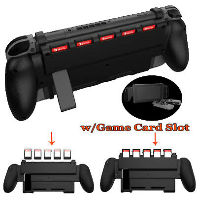 Protective Hard Case Grip Handle Bracket w/Game Card Slot for Nintendo Switch NS