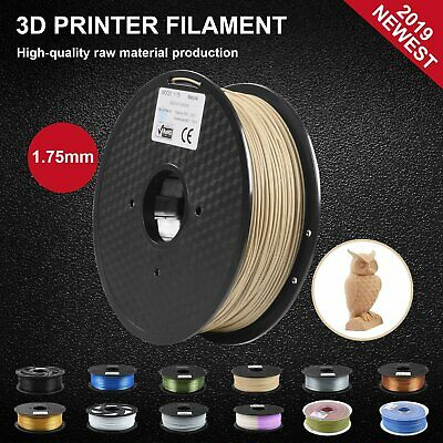 3D Printer Filament 1KG Roll 1.75mm Real Wood+ PLA Printing Natural For Creality
