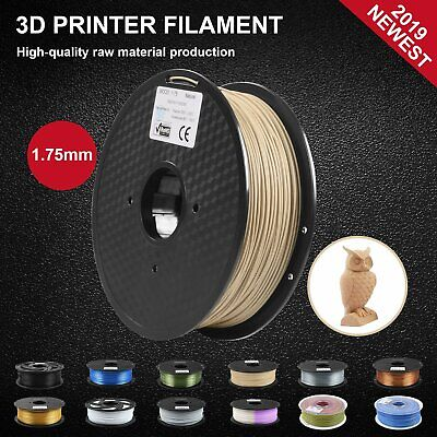 3D Printer Filament 1KG Roll 1.75mm Wood Infused PLA Printing Natural Brown