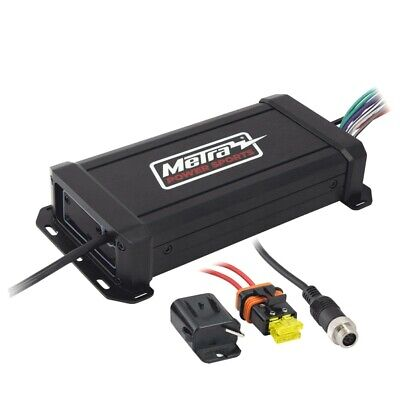 Powersports Metra MPS-AMP60X4 motociclo a 4 canali di 360W Micro Amplifier