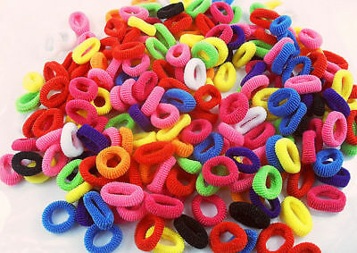 100X Girls Toddler Kids Elastic Hair Bands Bobbles Bows Boutique Mix Color Fine