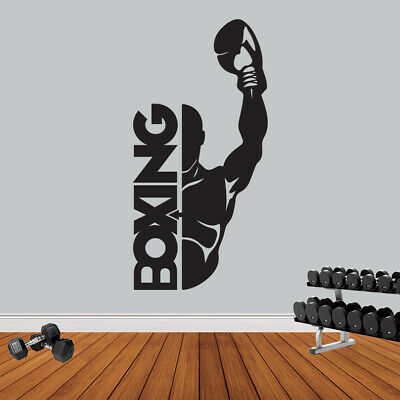 Boxing Sport Gym Fitness Wall Sticker Workout Motivation Quote Wall Art Decal
