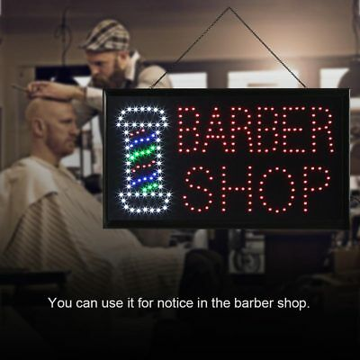 LARGE LED OPEN Sign Flashing 55x33CM Business Board Electric For BARBER  SHOP AU