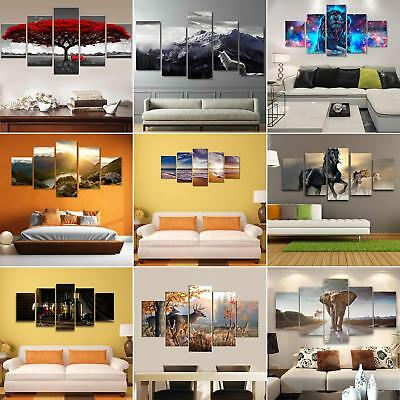 ALS_ 5Pcs Unframed Colorful Modern Art Painting Picture Print Home Wall Decor Ex
