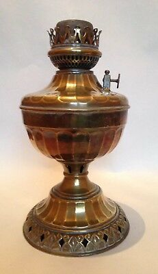 Early 20thC American Brass Oil Lamp