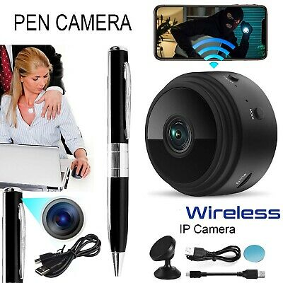 Wireless Mini Spy Hidden IP Camera WiFi HD 1080P Home Security Night Vision
