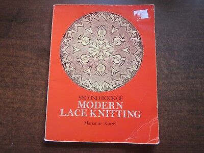 SECOND BOOK OF MODERN LACE KNITTING Marianne Kinzel 29 Projects Patterns 1972