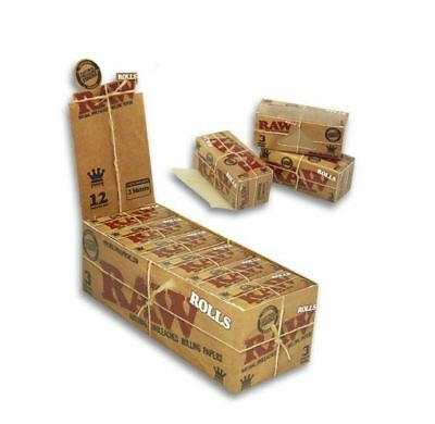 8 Packs x RAW King Size Natural Smoking Rolling Paper Roll 3 Meter
