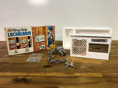 Vintage RG Ring Grip Lock Alarm In Box