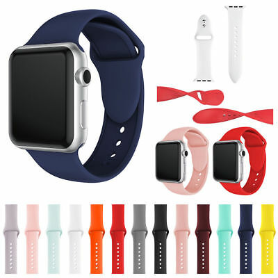 Replacement Silicone Bracelet Sports Band Strap For Watch Series 4/3/2/1