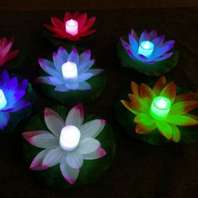 Floating Wishing Light LED Lamps On Water Swimming Colorful Lotus Festival Hot