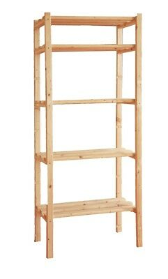 Shelf in wood 170x80x40 5 shelves exhibitor Library price most bottom