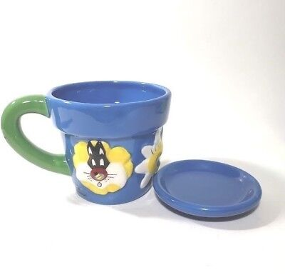 NEW 1996 Tweety bird and sylvester flowerpot mug VINTAGE, RARE