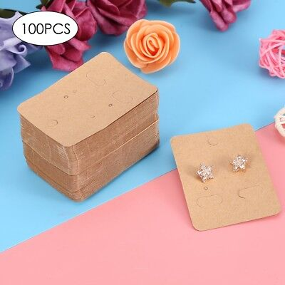 100Pcs Jewelry Display Card Earrings Ear Studs Packing Hang Tag Rectangle Holder