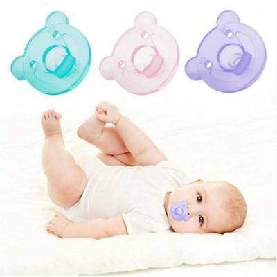 1 Pc Baby Soother Silicone Pacifier Bear Nipple Orthodontic Infant neonatus Care