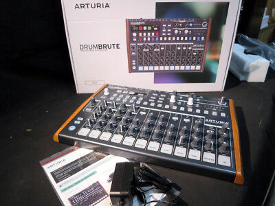 Arturia Drumbrute analog drum machine sequencer, mint boxed ex-display, warranty