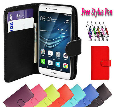 New Luxury Magnetic PU Leather Flip Wallet Case Cover For Huawei P9 Phone