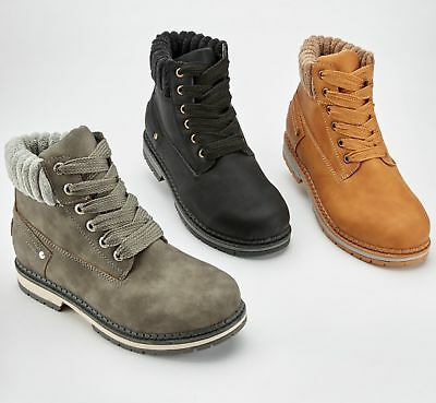 Boys Girls Kids New Casual Lace Up Winter Walking Ankle Boots Trainers Shoes SZ