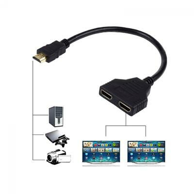Switch Cable Splitter Port 1080p HDMI Converter 1 In 2 Out Male to 2 Female
