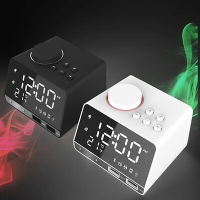 New K11 Bluetooth Alarm Clock Speaker Dual USB Interface Clock Display Radio T2