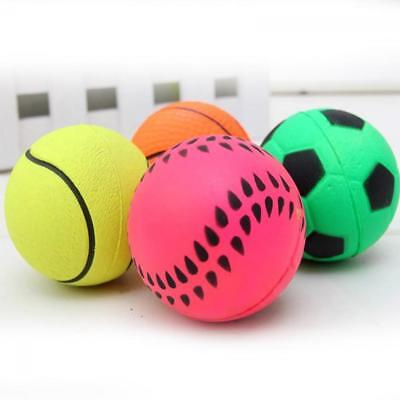 Training Dog Puppy Play Pet Chew Toy Spherical Rubber Bouncy Ball