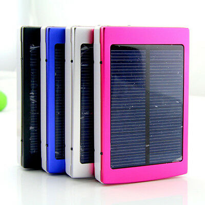 Solar LED Dual USB Empty Box Metal Case for 18650 Power Bank Battery Charger LS