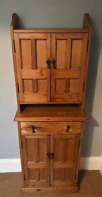 Antique Pine Cabinet with one drawer and two cupboards