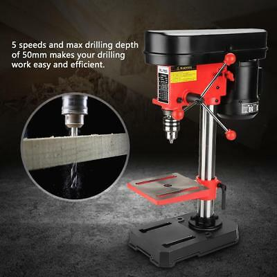 350W Bench Top 5 Speed Pillar Drill Press & Table Stand 1.5 - 13mm Chuck 230v