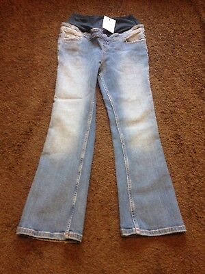 BNWT Ladies Size 8, Blue Over Bump Skinny Maternity Jeans With Stretch