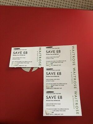 Waitrose Money Off Vouchers Coupons £8 x 4 valid till 3rd Feb 2019