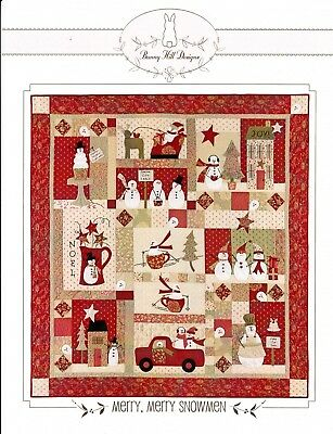 MERRY, MERRY SNOWMEN BOM COMPLETE QUILT PATTERN, From Bunny Hill Designs