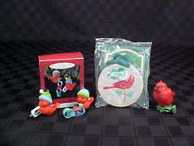 RED BIRDS - Lot of 3 1986 Gratitutde 1988 Baby Red Bird 1993 Great Connection