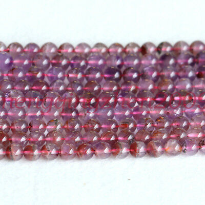 Natural Genuine Clear Purple Red Auralite Super 23 Crystal Round Loose Beads