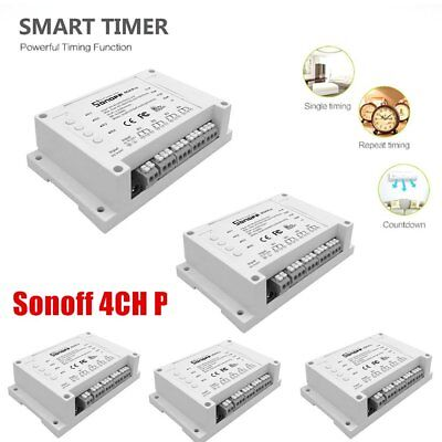 5X Sonoff 4CH Pro 4 Gang Mounting WiFI Wireless Switch 433MHZ Remote Control A1