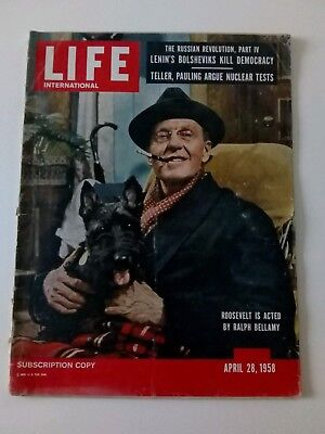 Life magazine April 28 1958 Elvis enlists, Shirley Temple, Russian Revolution