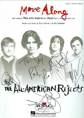 The All American Rejects autographed hand signed all 4 sheet music Tyson Ritter