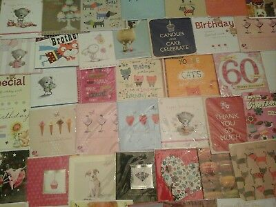 60 W Cards, Wholesale Joblot Greeting Cards