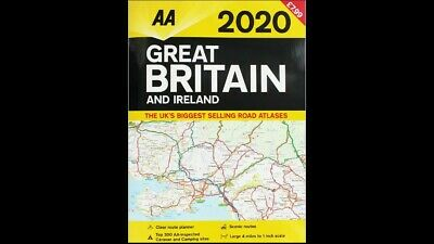AA 2020 Road Atlas Map Great Britain & Ireland UK New Latest Edition  *2020 MAP*