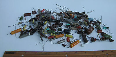 Huge Lot Of Vtg Collectible Electronic Transistors Resistors Radio 100 + Pcs.