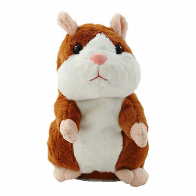 Talking Hamster Mouse Pet Plush Toy Cute Speak Sound Record for Children Baby H4