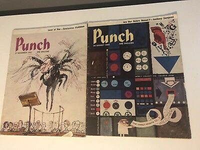 Punch Magazines From 27th Nov & 28th Aug 1963