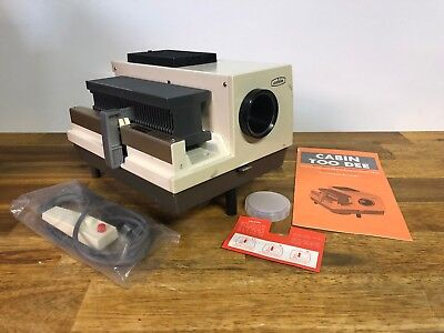 Vintage Cabin Toodee Automatic 300W Photo Slide Projector With Box