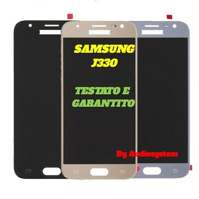 DISPLAY LCD +TOUCH SCREEN per SAMSUNG GALAXY J3 2017 SM-J330F VETRO NERO BLU ORO