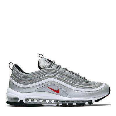 sports shoes b7251 619be Nike Air Max 97 OG QS Originals Metallic Silver Varsity Red Scarpe Uomo  Donna