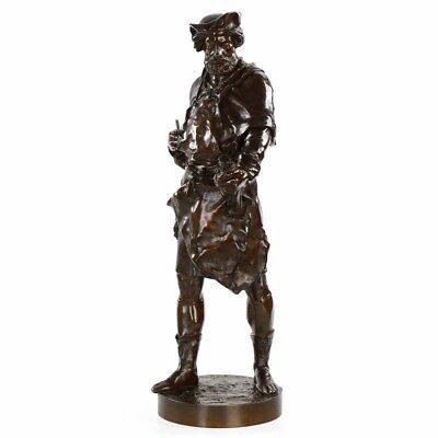 Emile Picault French Bronze Antique Sculpture of a Sculptor, 19th Century